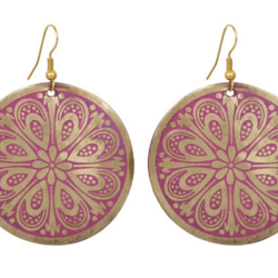 Pink and Gold earrings – LAST PAIR – FREE POSTAGE