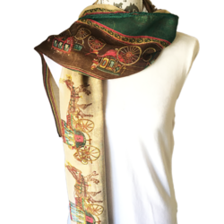 Horse and Carriage scarf – FREE POSTAGE – 14 other designs available in our store.