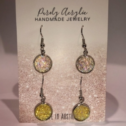 Pale Pink & Yellow: Stainless Steel Earring Pack