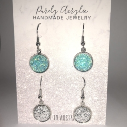 Aqua & Silver: Stainless Steel Earring Pack