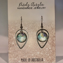 Pastel Coloured: Stainless Steel Teardrop Earrings