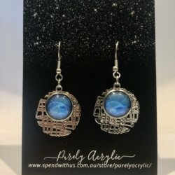 Blue: Stainless Steel Drop Earrings