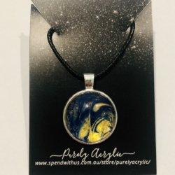 Blue & Gold: Pendant Necklace