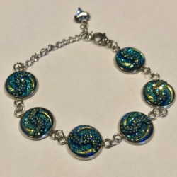 Mystical Green: Stainless Steel Bracelet