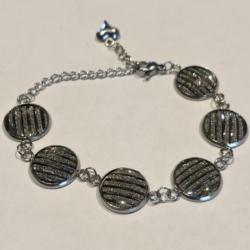 Sparkling Charcoal: Stainless Steel Bracelet