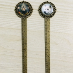 Wolf Head Book Marks / Rulers / Letter Openers
