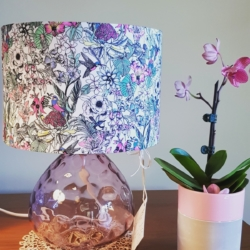 Hand crafted lampshade and base