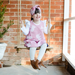 Reversible Pink and White Koala Dress