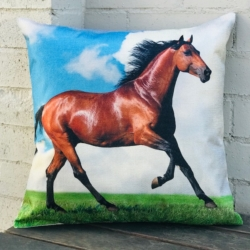 Cushion. Horse running. (Complete)