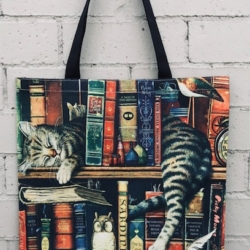 Tote Bag. Library Cat Tabby