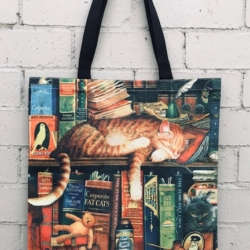 Tote Bag. Library Cat Ginger