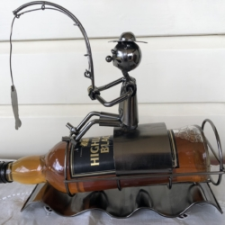 NUTS & BOLTS WINE HOLDERS – FISHERMAN in BOAT – $50