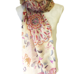 Indian theme scarf – FREE POSTAGE – 14 other designs available in our store.