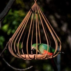 """Classic"" metal bird feeder (narrow)"