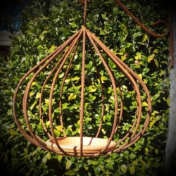 """Fig"" metal bird feeder (narrow)"