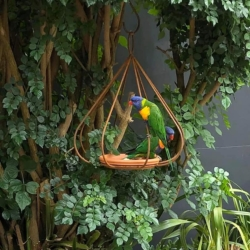 """Classic"" metal bird feeder"