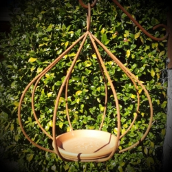 """Fig"" metal bird feeder"