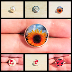 Lapel / Privacy Pins / Brooches – 6 styles – Pinch Back Silver