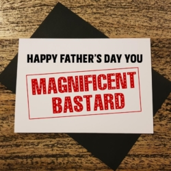 Magnificent Funny Father's Day Greeting Card