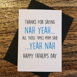 Yeah Nah Funny Father's Day Greeting Card