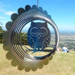 "Designer Collection Wind Spinner – ""OWL"" 26cm – Made in Australia"