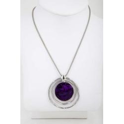 Purple Silver Necklace/pendant – LAST ONE – FREE POSTAGE