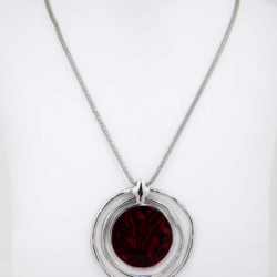 Red Silver Necklace/pendant – LAST ONE – FREE POSTAGE
