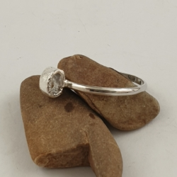 Reticulated Loop Sterling Silver Stack Ring