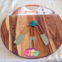 Rose gold marble cheese board