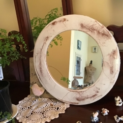 Rose gold marble mirror