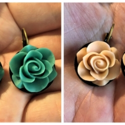 Pretty Rose Leverback Earrings