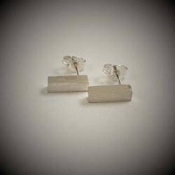 Rectangular Prism Sterling Silver Studs