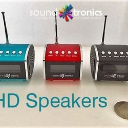 HD SPEAKER – BLUE, RED or BLACK with clock, alarm, date, Radio, Bluetooth and plays USBs – POSTAGE FREE