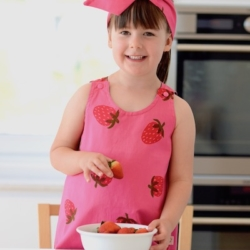 Reversible Pink Strawberry Dress