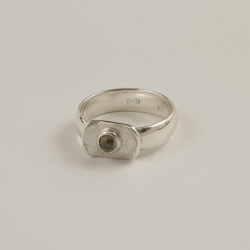 Sterling Silver Ring with Tasmanian Sapphire