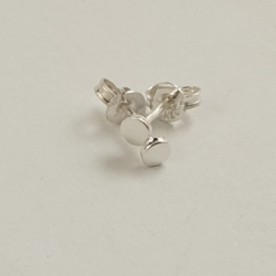 Tiny Circle Sterling Silver Studs