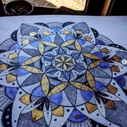 Customised Sacred Geometry Mandala Art Commission – Deposit for A3
