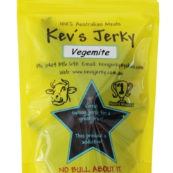 Kev's Jerky Vegemite Beef Jerky 100g
