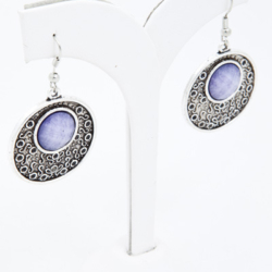 Silver and purple earrings – ONLY 2 PAIR LEFT – FREE POSTAGE