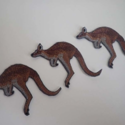 Kangaroo iron on patch