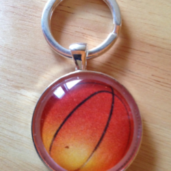 Handmade Basketball Sport Key Ring / Bag Tag – FREE POSTAGE