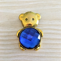Cute Teddy Bear Brooches in Gold – 10 Colours