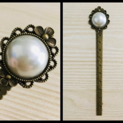 Faux Pearl Bookmarks / Rulers / Letter Openers