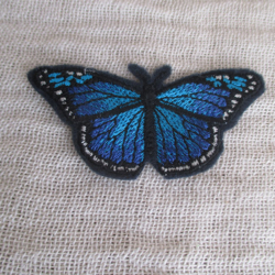 Blue Morpho Butterfly iron on patches