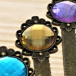 Bright Colour Faceted Bookmarks / Rulers / Letter Openers – multiuse – bronze