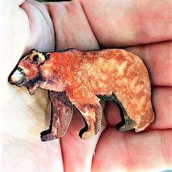 Big Brown Bear Brooches / Shawl Pins / Badges