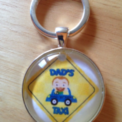 Handmade Dad's Taxi Key Ring / Bag Tag – FREE POSTAGE
