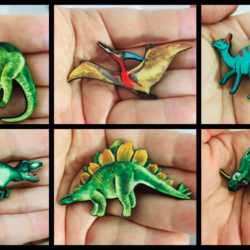 Dinosaur Brooches – 6 Styles