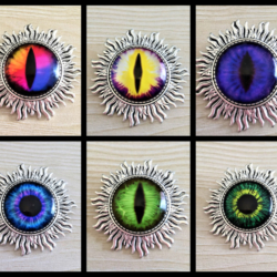 Silver Eye Brooches / Pins / Badges – 10 styles