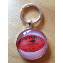 Handmade AFL Football Footy Key Ring / Bag Tag – FREE POSTAGE